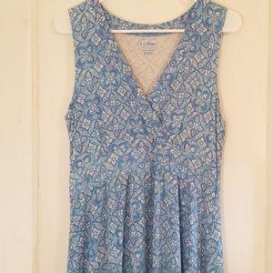 EUC L.L. Bean Women's Sleeveless Dress
